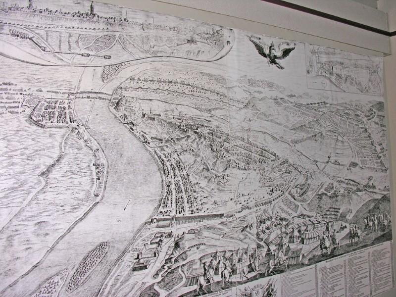 Mapa starého města Budapešti