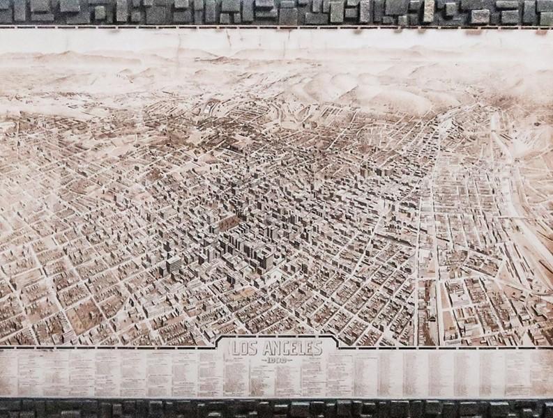 Stará mapa města Los Angeles